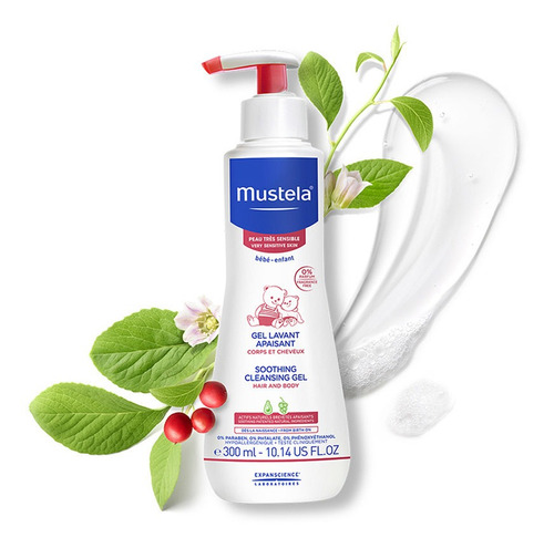 gel lavante calmante pele muito sensível mustela schizandra