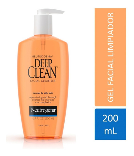 gel limpiador facial neutrogena deep clean  - neutrogena