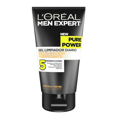 gel limpieza facial pure power 5 men expert loreal