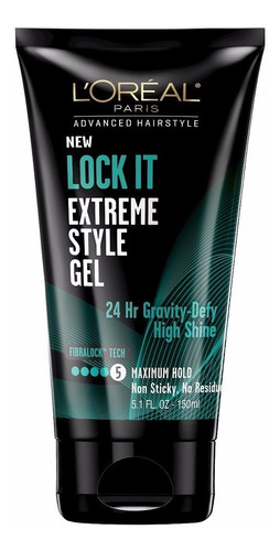 gel l'oréal paris lock it extreme style máxima fixação 150ml