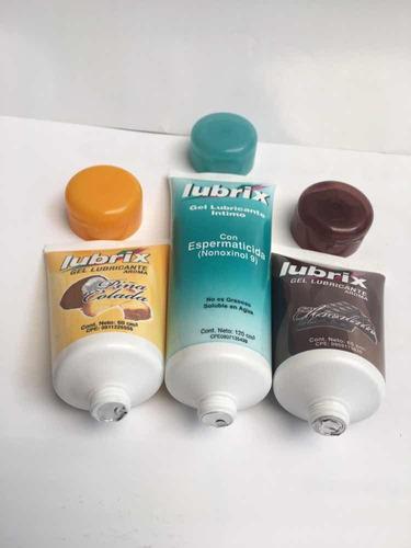 gel lubricantes íntimos lubrix por unidad 120cm y 60cm