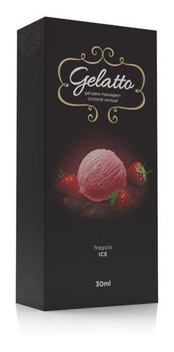 gel lubrificante comestível - sabor sorvete gelatto fragola