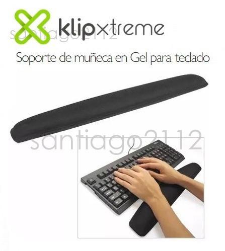 gel pad de teclado klip xtreme 100b ergonomico para muñeca