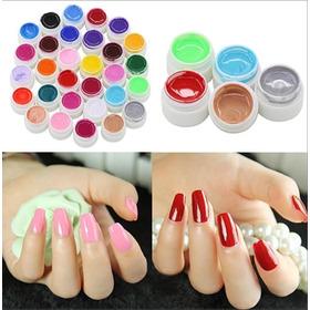 Gel Paint Uv Led Color X 12 Unidades Sin Glitter Uñas