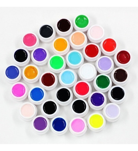 gel paint uv led color x 6 unidades sin glitter uñas