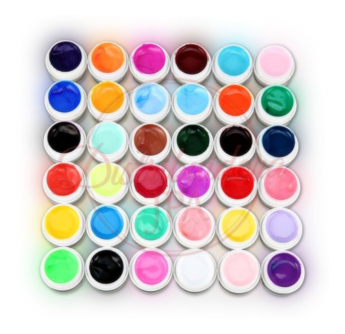 gel paint uv led color x36 unidades sin glitter