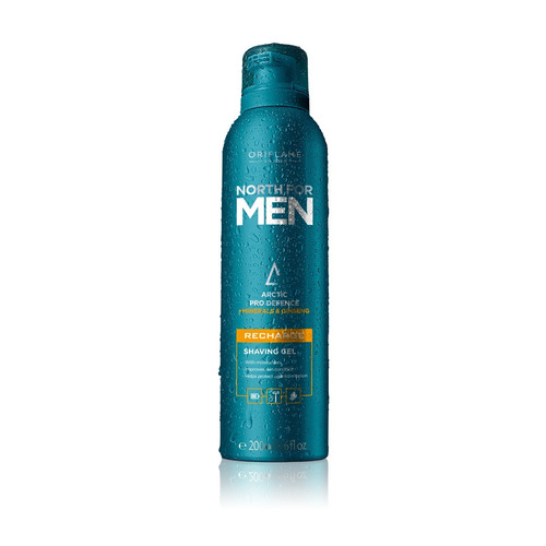 gel para afeitar north for men recharge