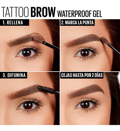 gel para cejas maybelline tattoo studio brow gel