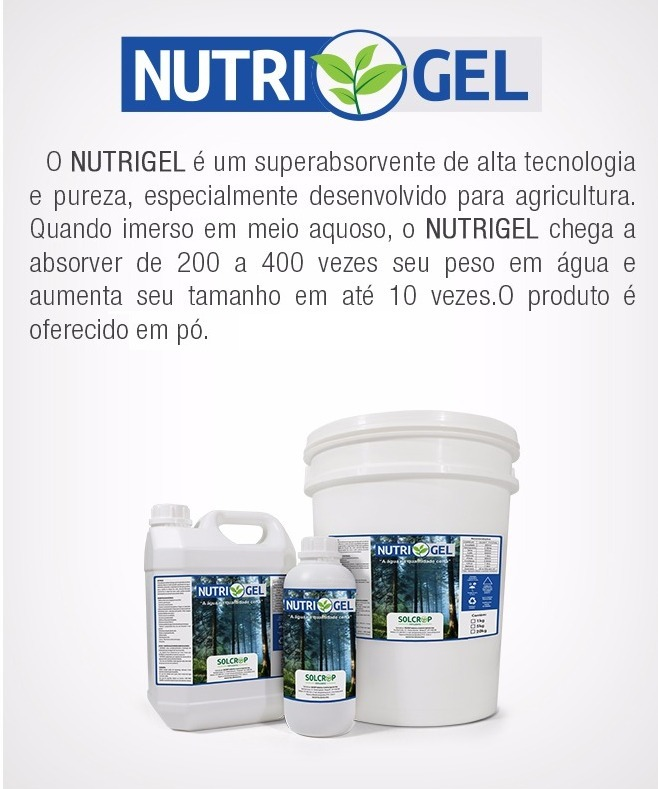 9eb1a298e Gel Para Plantio 1 Kg Nutrigel - Preço Promocional - R$ 24,90 em ...