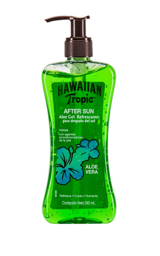 gel post solar hawaiian tropic aloe vera refrescante 240ml