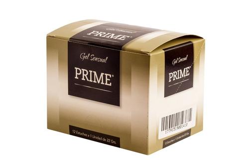 gel prime excite 22gr combo x12 lubricante placer femenino