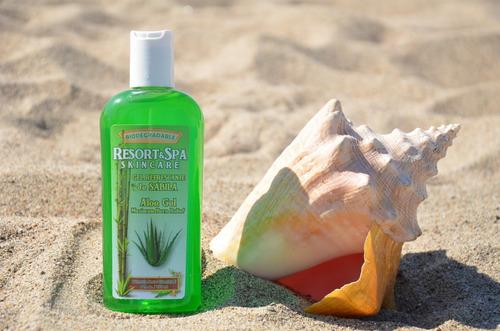 gel refrescante de sabila biodegradable 250 ml.