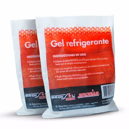 gel refrigerante termico brogas 300 gr lunchera x 2 unidades--18 cuotas sin interes