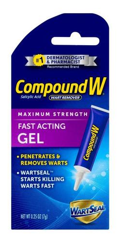 gel removedor de verrugas de acción rápida compound w
