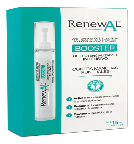 gel renewal anti manchas booster x 15ml