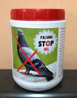 gel repelente para palomas. gel ahuyenta palomas.