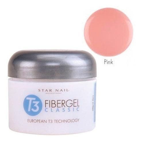 gel t3 pink star nail - cuccio