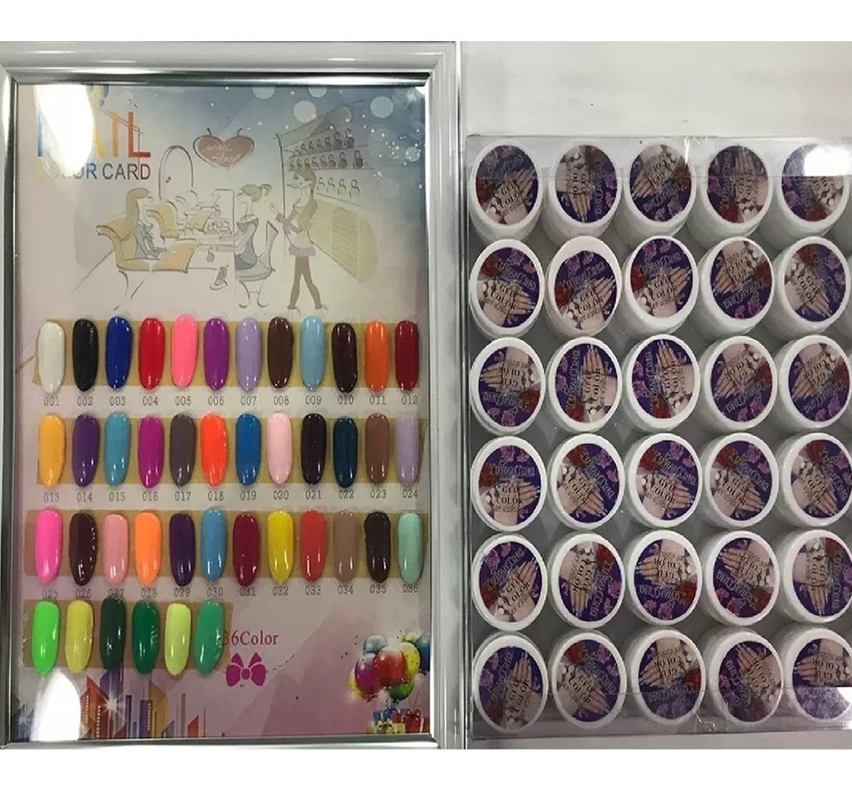 Gel Uv Color X 36 Semi Color Puro Construccion Uñas En Gel