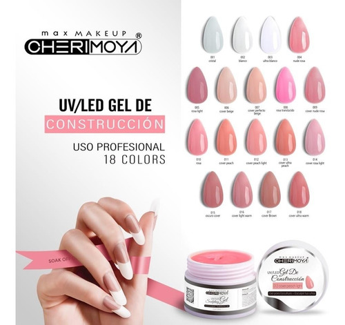 gel uv led cherimoya 30ml blanco 002 en lefemme