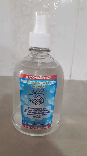 gel y alcohol antibacterial