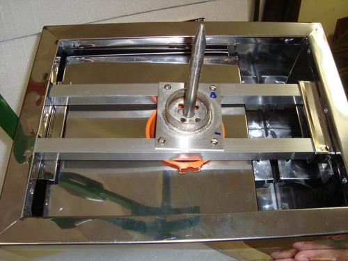 gela coco inox c/ furador de alavanca, 2  torneiras 3 litros