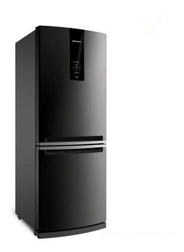geladeira 2 portas brastemp 443l freezer invertido bre57ak