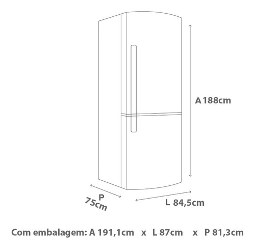 geladeira brastemp frost free inverse 573 litros bre80ab