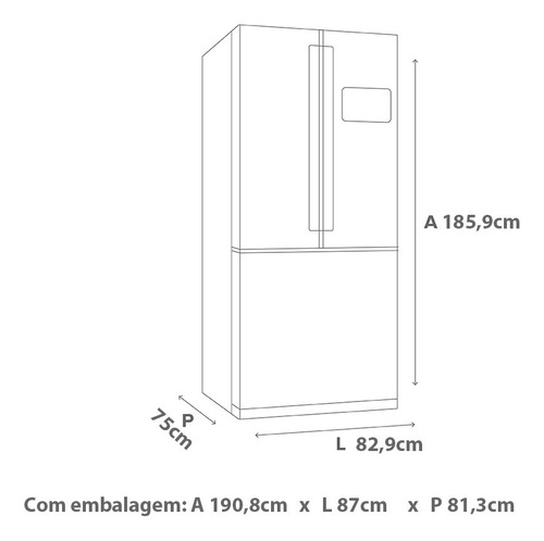 geladeira brastemp frost free side inverse 540 litros bro80a