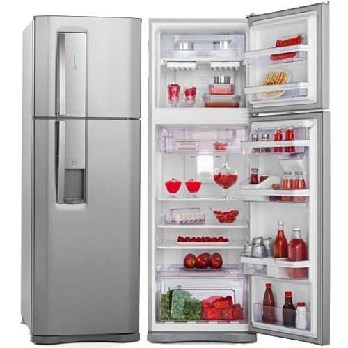 geladeira electrolux frost free 386l inox 110v - dw42x