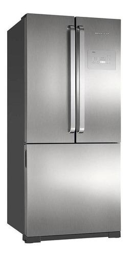 geladeira frost free brastemp bro80a inox com freezer 540l  110v