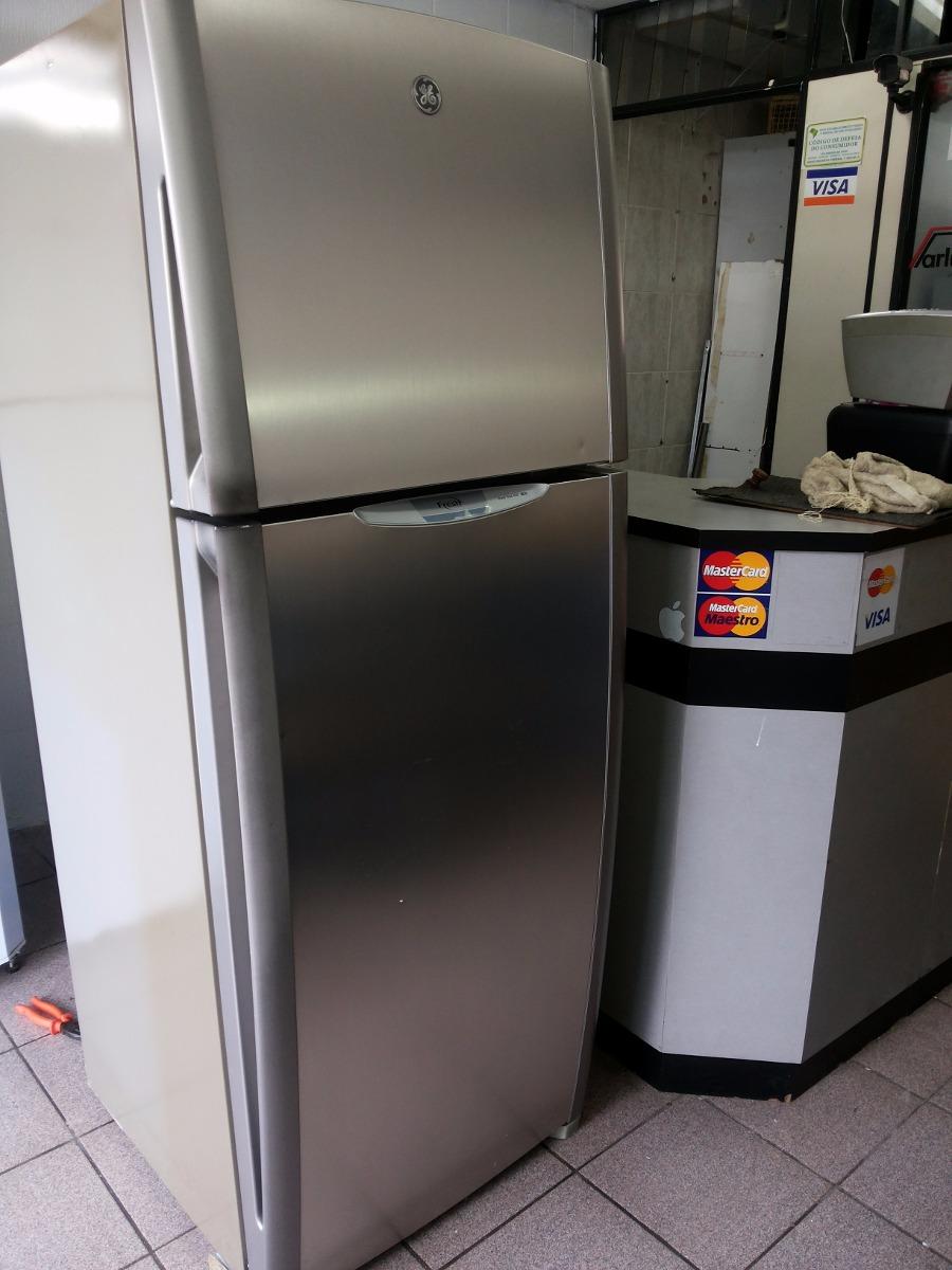 geladeira ge frost free inox 410 litros voltagem 220