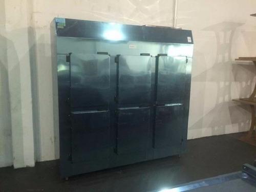 geladeira industrial inox 6 portas refrigel