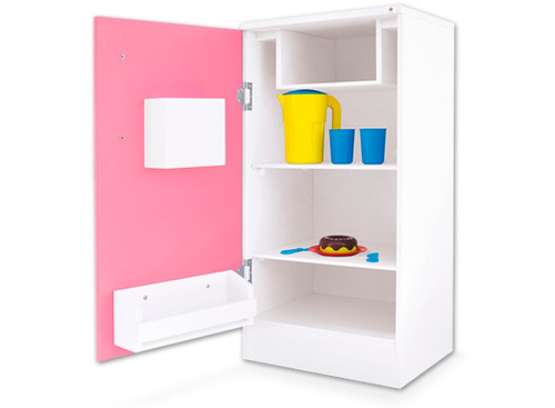 geladeira infantil super lux em madeira com acessorios