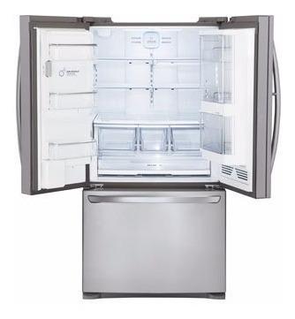 geladeira lg 3 portas com freezer em aço inoxidável