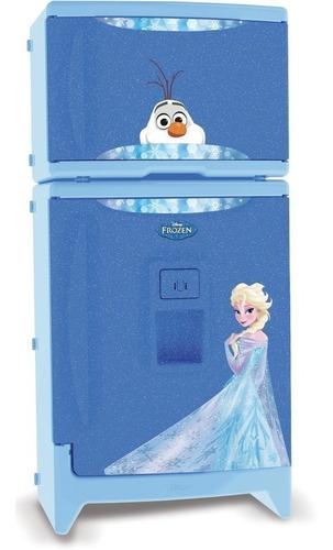 geladeira refrigerador infantil duplex c/ som frozen xalingo
