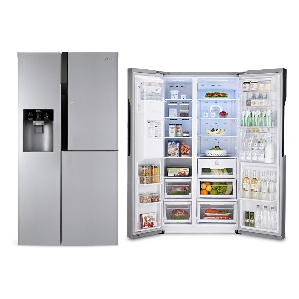 geladeira refrigerador side by side door in door gc. Black Bedroom Furniture Sets. Home Design Ideas