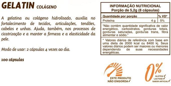 75403f992 Gelatin 650mg Colágeno Hidrolisado Sundown Naturals 100 Cáps - R  62 ...