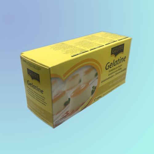 gelatina gelita oro (sin sabor) caja 500 láminas - 1 kg