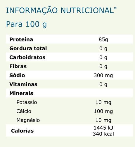 gelatina pura em pó sem sabor - bloom 180 - c\ laudo - 1kg