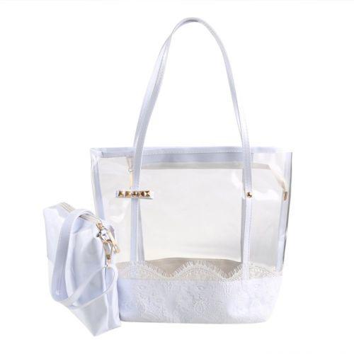 Gelatina Transparente Pvc Playa Bolso Bolsa... (white) -   55.990 en ... 75b56d98ab4