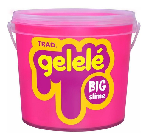 gelelé slime meleca geléia massinha big balde rosa