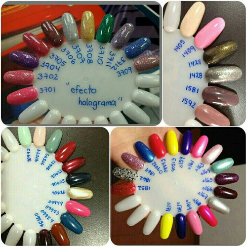 gelish esmalte  21 días, colores , foundation , top it off ,