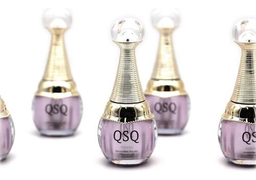 gelish kit con lámpara uv led base brillo 6 colores esmaltes