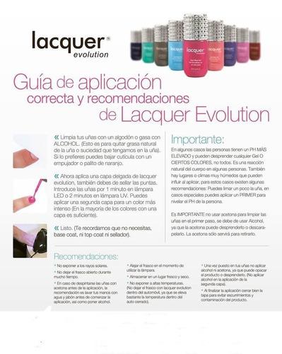 gelish lacquer evolution + lampara led * envío gratis*
