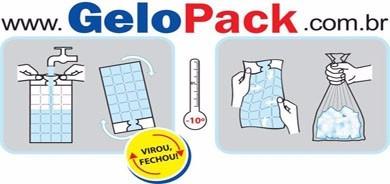 gelo de água de coco - kit com 150 embalagens