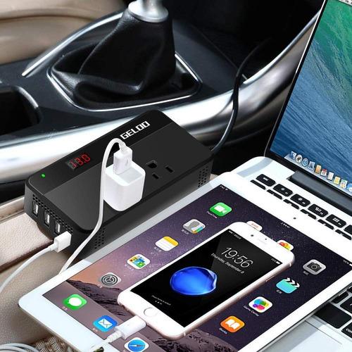 geloo 200w inversor de corriente para automóvil 12v a 110v