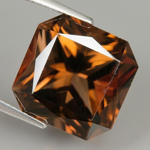gema cuarzo ahumado- corte cojín 14x10.70mm - 12.60ct  #0129