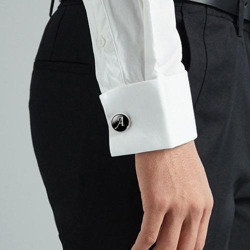 gemelo doble b hombre camisa larga broche pin clip mancuerna