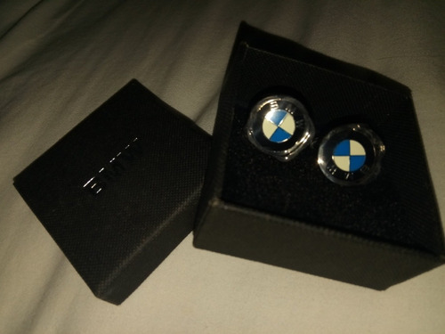 gemelos acero inoxidables bmw originales new