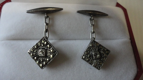 gemelos antiguos plata y marquesitas.